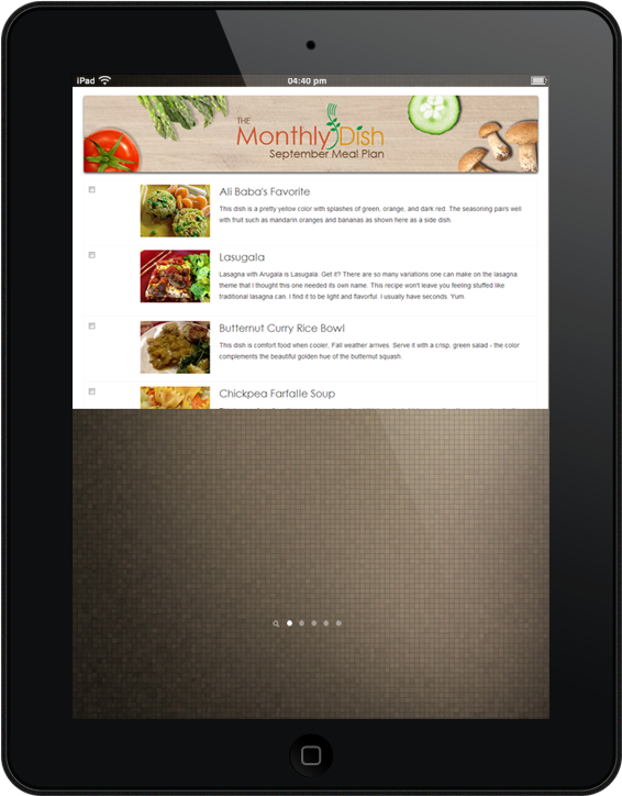 Ipad Monthly Dish